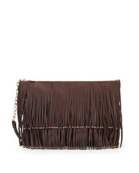Deux Lux - Brown Mae Fringe Crossbody Bag - Lyst