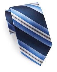 Burma Bibas - Blue Silk Striped Tie for Men - Lyst