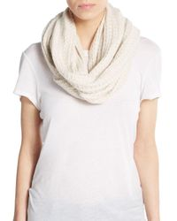 Portolano | Natural Knit Scarf | Lyst
