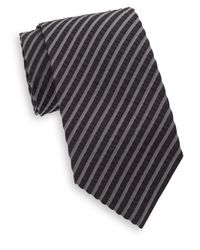 Armani - Gray Seersucker Tie for Men - Lyst