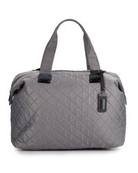 Steve Madden - Gray Quilted Duffle Bag - Lyst
