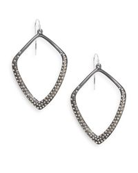 Alexis Bittar - Metallic Miss Havisham Crystal Hexagon Spear Drop Earrings - Lyst