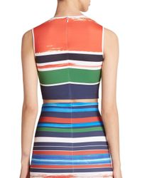 Clover Canyon - Multicolor Striped Neoprene Cropped Top - Lyst