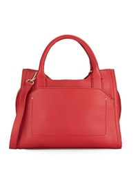 Vince Camuto | Red Leather Satchel | Lyst