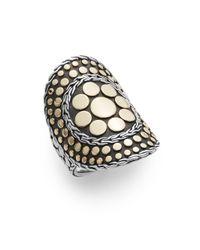 John Hardy | Metallic Dot 18k Yellow Gold & Sterling Silver Nuansa Ring | Lyst