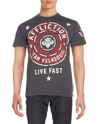 Affliction - Gray Velasquez Graphic Tee for Men - Lyst