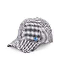 Original Penguin | Black Ray-ray Cotton Gingham Baseball Cap for Men | Lyst