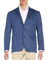 Saks Fifth Avenue   Blue Slim-fit Twill Blazer for Men   Lyst