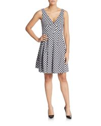 Betsey Johnson | Black Gingham Check Fit-and-flare Dress | Lyst