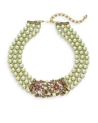Heidi Daus | Green Bouquet Of Beauty Swarovski Crystal & Multicolor Rhinestone Beaded Necklace | Lyst