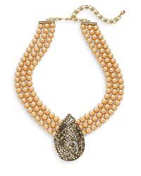 Heidi Daus - Metallic Pointed Perfection Swarovski Crystal & Multicolor Rhinestone Beaded Drop Necklace - Lyst