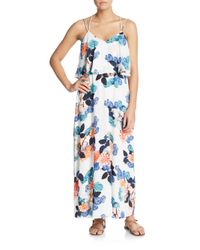 Vince Camuto | Blue Floral Garden Maxi Dress | Lyst