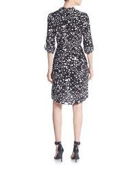 Diane von Furstenberg - Black Prita Silk Hi-lo Shirtdress - Lyst