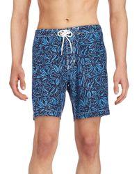 Trunks Surf & Swim - Blue Tropical-print Swim Shorts for Men - Lyst