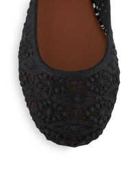 Lucky Brand - Black Eartha Lace Flats - Lyst