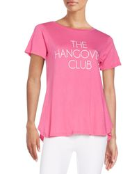 Wildfox | Pink The Hangover Club Tee | Lyst
