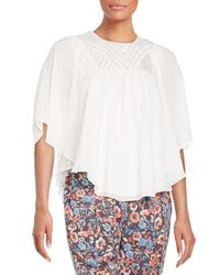 Joie | White Patel Embroidered Silk Blouse | Lyst