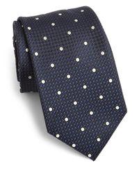 Saks Fifth Avenue - Blue Dot Print Silk Tie for Men - Lyst