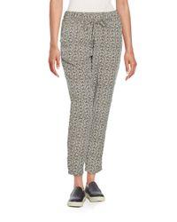 Splendid | Gray Printed Drawstring Pants | Lyst