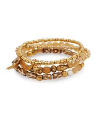 Chan Luu | Metallic Mother-of-pearl Bracelet Set | Lyst