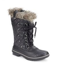 Sorel | Black Tofino Faux Fur Lined Boots | Lyst