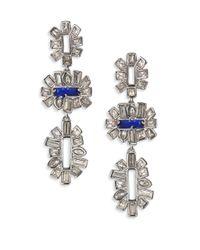 Alexis Bittar | Metallic Miss Havisham Crystal Framed Baguette Tiered Drop Earrings | Lyst