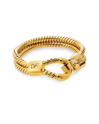 Diane von Furstenberg - Metallic Cubism Snake Chain Bracelet - Lyst