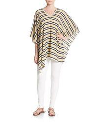 Cara | Multicolor Striped Poncho | Lyst
