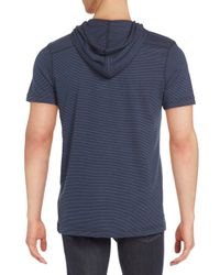 Royal Knights & Co. - Blue Hooded Short Sleeve Henley for Men - Lyst