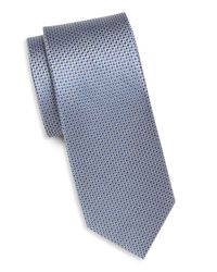 Saks Fifth Avenue   Blue Textured Solid Silk Tie for Men   Lyst