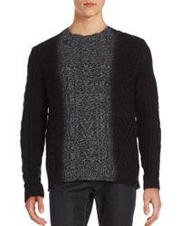 Vince | Multicolor Marled Dégradé Cable-knit Sweater for Men | Lyst