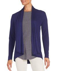 Saks Fifth Avenue - Blue Rib-knit Cardigan - Lyst
