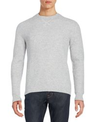 Saks Fifth Avenue | Gray Thermal Cashmere Sweater for Men | Lyst