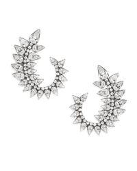 DANNIJO | Metallic Arabella Crystal Swirl Earrings | Lyst