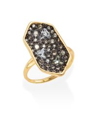 Alexis Bittar - Metallic Elements Pavé Crystal Shield Ring - Lyst