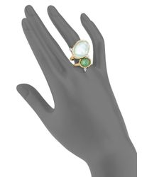 Alexis Bittar - Metallic Elements Multi-stone Cocktail Ring - Lyst