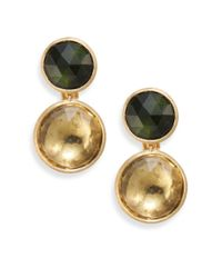 Marco Bicego | Metallic Jaipur Lemon Citrine, Green Tourmaline & 18k Yellow Gold Drop Earrings | Lyst