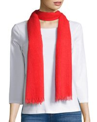 Saks Fifth Avenue | Pink Cashmere Scarf | Lyst