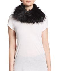 Adrienne Landau - Black Dyed Fox Fur Scarf - Lyst