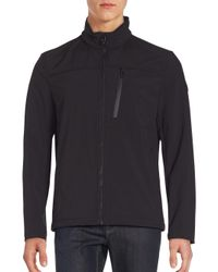 Calvin Klein | Black Long Sleeve Zip-front Jacket for Men | Lyst