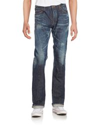 PRPS | Blue Barracuda Distressed Straight-leg Jeans for Men | Lyst