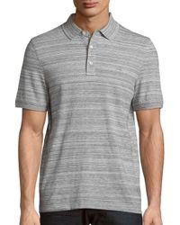Michael Kors | Gray Space Dye Cotton Blend Polo for Men | Lyst
