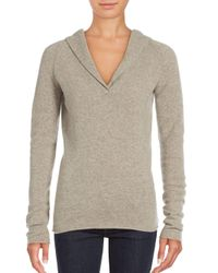 INHABIT | Gray Cashmere Blend Long Sleeve Top | Lyst