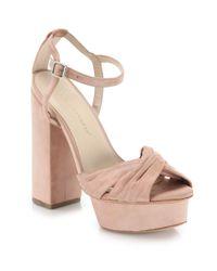 Loeffler Randall | Multicolor Arbella Suede Twist Platform Sandals | Lyst
