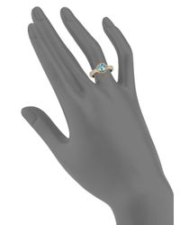 Konstantino - Metallic Color Classics Round Blue Topaz, Sterling Silver & 18k Yellow Gold Ring - Lyst