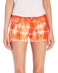 J Brand | Red Low-rise Photo Ready Tie-dye Cut-off Shorts | Lyst