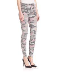 True Religion - Multicolor Halle Distressed Camo Skinny Jeans - Lyst