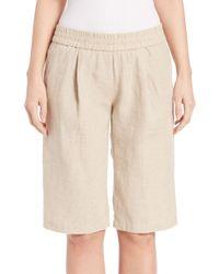 Eileen Fisher Natural Organic Linen Bermuda Shorts