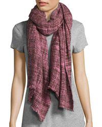 Bajra | Pink Woven Wool Scarf | Lyst