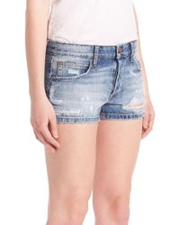 Joe's Jeans - Blue Billie Distressed Jean Shorts - Lyst